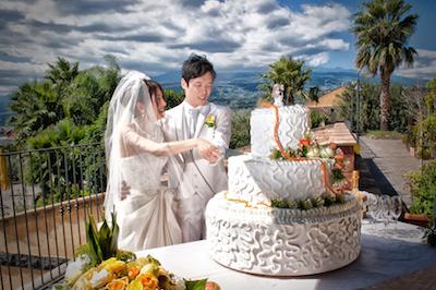 イタリアのウェディングケーキ