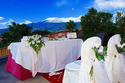 タオルミーナ近郊の絶景アグリツーリズモで海外挙式!