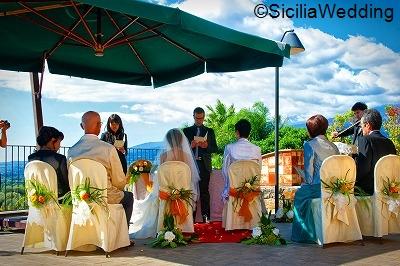 シチリア島、タオルミーナで海外挙式